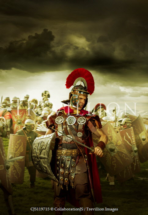 CollaborationJS A roman centurion on the battlefield