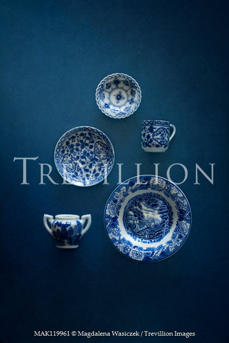 Magdalena Wasiczek blue and white china from above Miscellaneous Objects