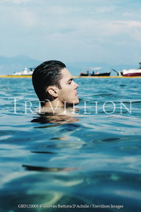 Giovan Battista D'Achille Young man swimming in sea