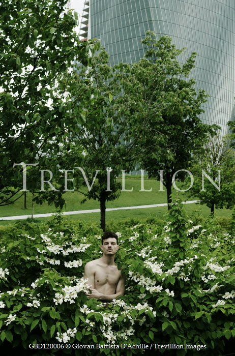 Giovan Battista D'Achille Shirtless man in  bush