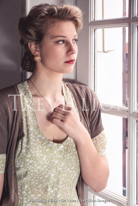 Elly De Vries 1940s woman by window