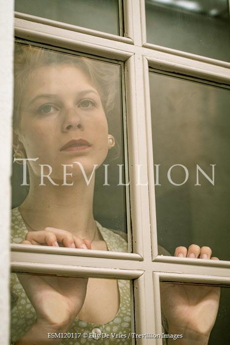 Elly De Vries 1940s woman behind window