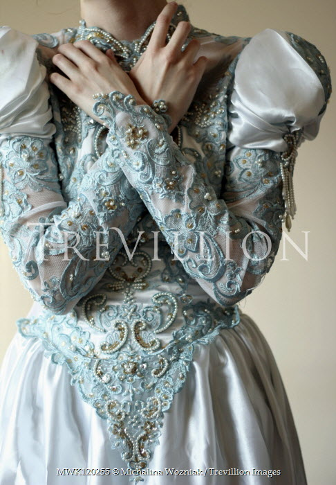 Michalina Wozniak CLOSE UP OF HISTORICAL WOMAN IN EMBROIDERED DRESS Women