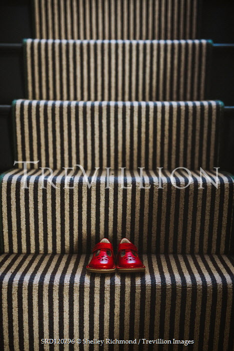 Shelley Richmond CHILDREN'S RED SHOES ON STAIRCASE Stairs/Steps