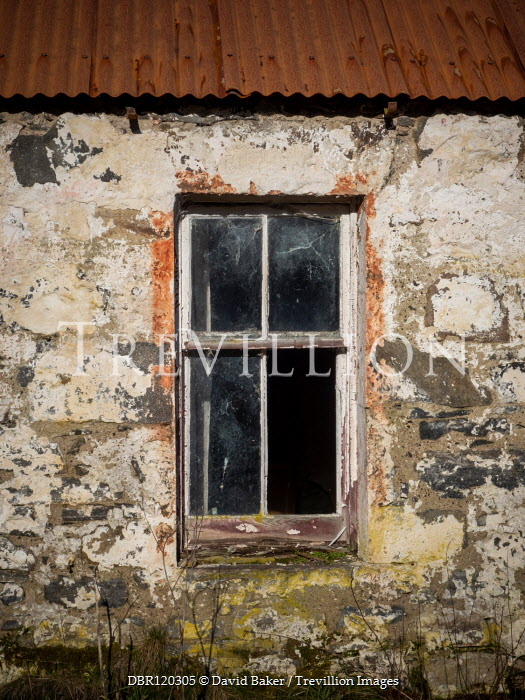 David Baker EXTERIOR OF WEATHERED HOUSE WITH WINDOW Building Detail