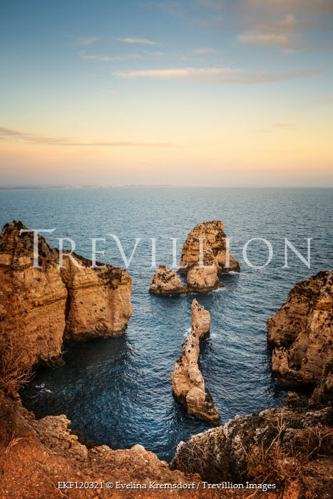 Evelina Kremsdorf cliffs by sea at sunset Seascapes/Beaches
