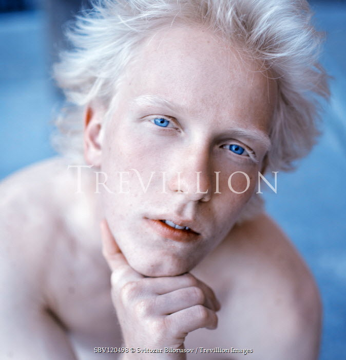 Svitozar Bilorusov BLONDE BARE CHESTED MAN WITH BLUE EYES Men