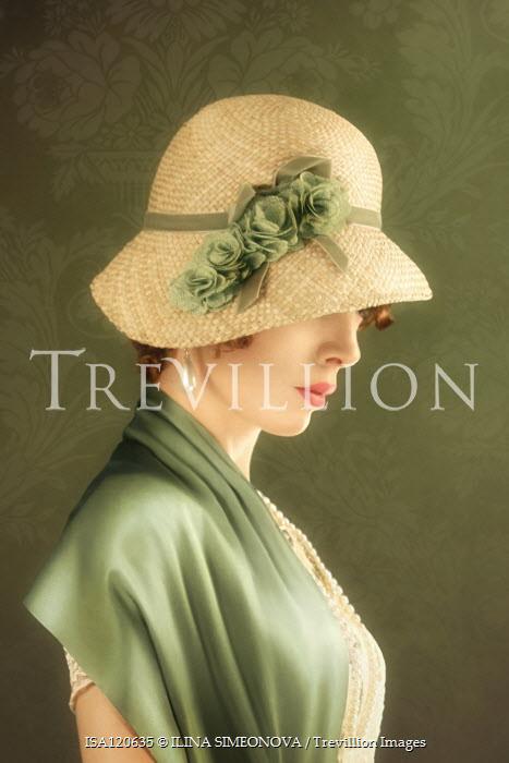 ILINA SIMEONOVA Young woman in 1920s straw hat