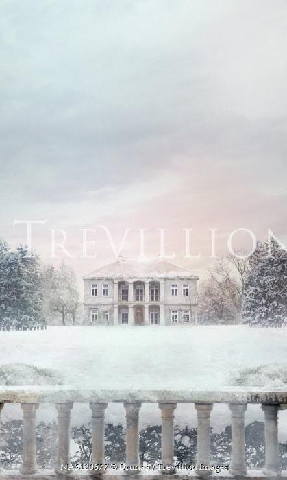 Drunaa Mansion in snowy forest
