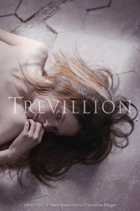 Anna Rakhvalova NUDE WOMAN LYING ON DIRTY FLOOR Women