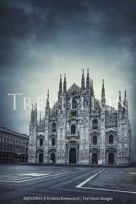 Evelina Kremsdorf EXTERIOR OF CATHEDRAL WITH EMPTY PIAZZA Religious Buildings