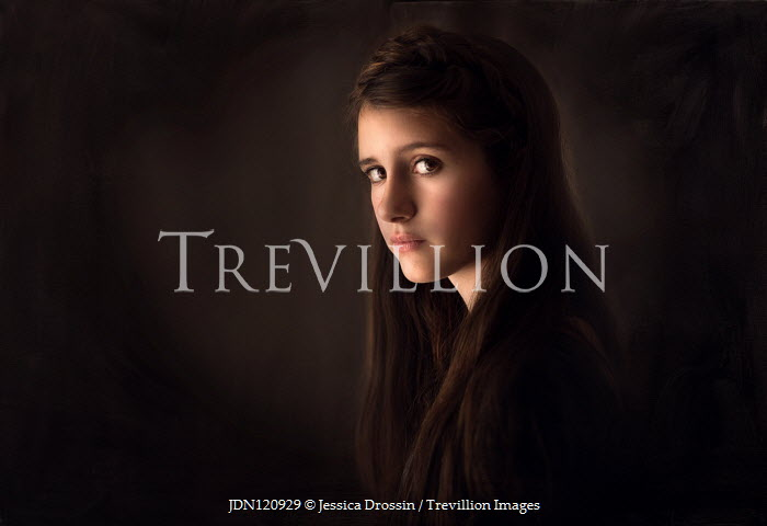 Jessica Drossin SERIOUS BRUNETTE TEENAGER LOOKING AT CAMERA Children