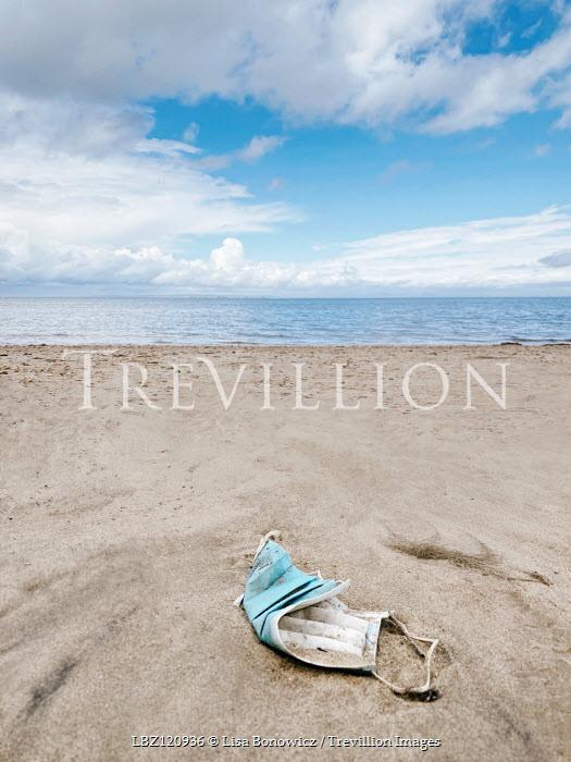 Lisa Bonowicz FACE MASK LYING ON SANDY BEACH Miscellaneous Objects