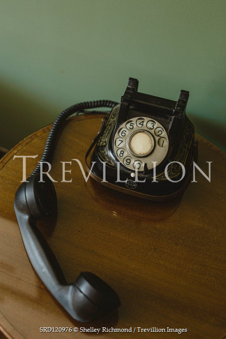 Shelley Richmond RETRO PHONE ON TABLE WITH DETACHED RECEIVER Miscellaneous Objects