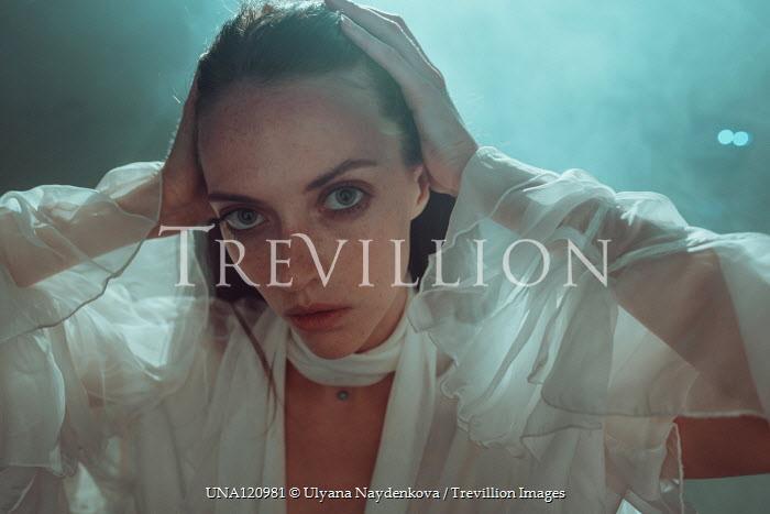 Ulyana Naydenkova STARING WOMAN IN WHITE SILKY BLOUSE Women