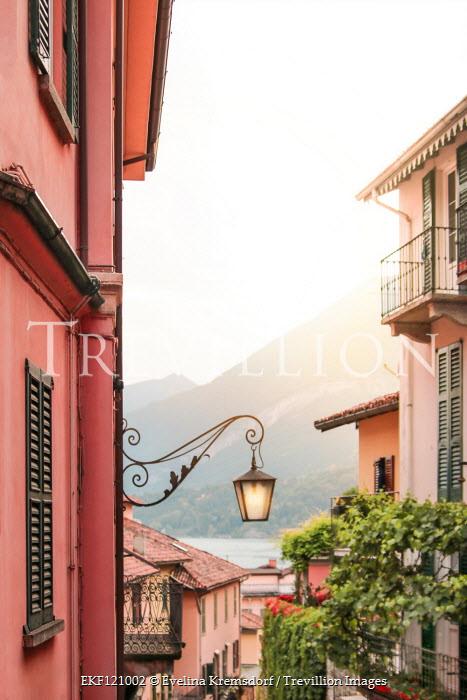 Evelina Kremsdorf Street light on house in Lake Como, Italy