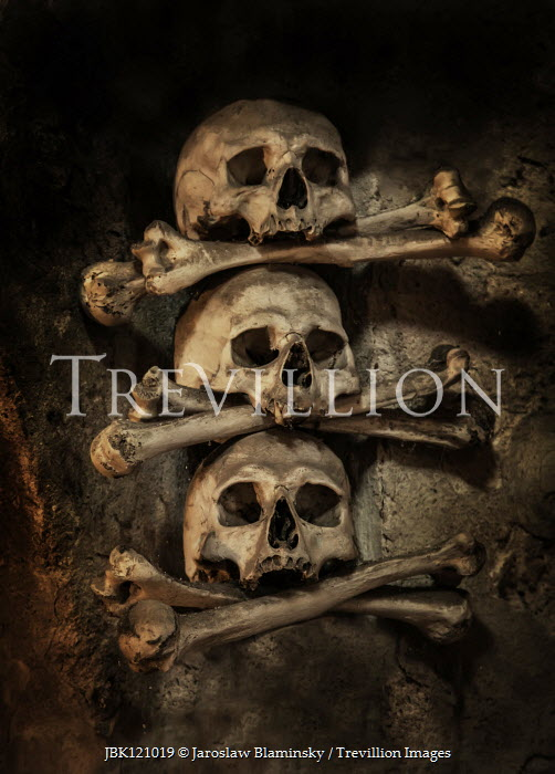 Jaroslaw Blaminsky Skulls and bones in wall