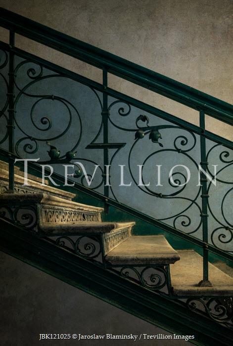 Jaroslaw Blaminsky Wrought iron railing of staircase