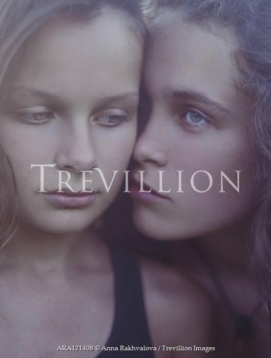 Anna Rakhvalova FACES OF TWO SERIOUS YONNG GIRLS Children
