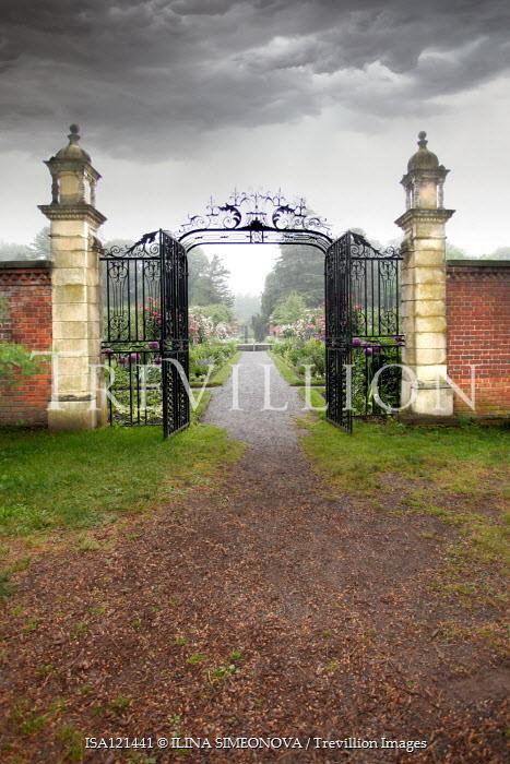 ILINA SIMEONOVA OPEN GATEWAY WITH GRAND GARDEN AND STORMY SKY Gates