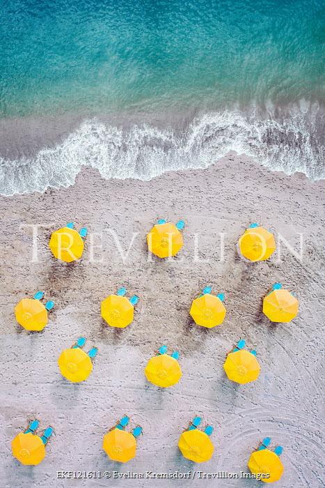 Evelina Kremsdorf Umbrellas and sun loungers on Cocoa Beach in Florida