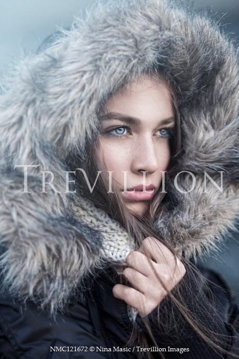 Nina Masic Young woman in fur hood