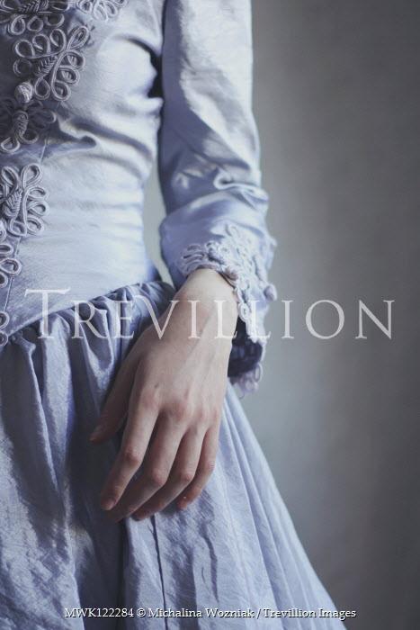 Michalina Wozniak WOMAN IN EMBROIDERED BLUE DRESS Women