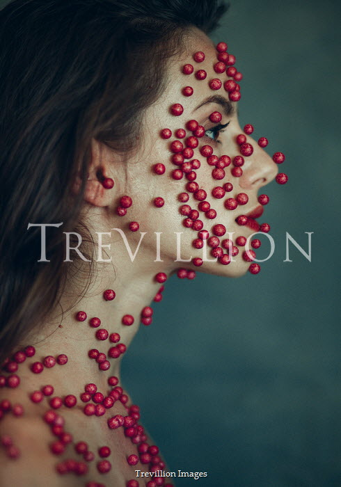 Alisa Andrei FEMALE FACE COVERED IN RED BERRIES Women