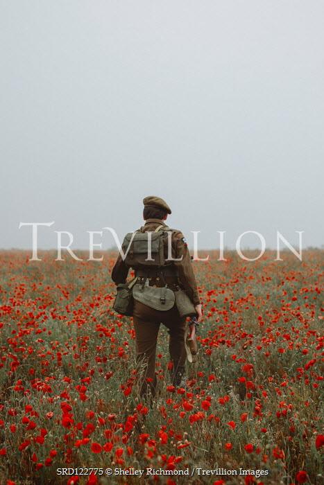 Shelley Richmond British World War I soldier in poppy field