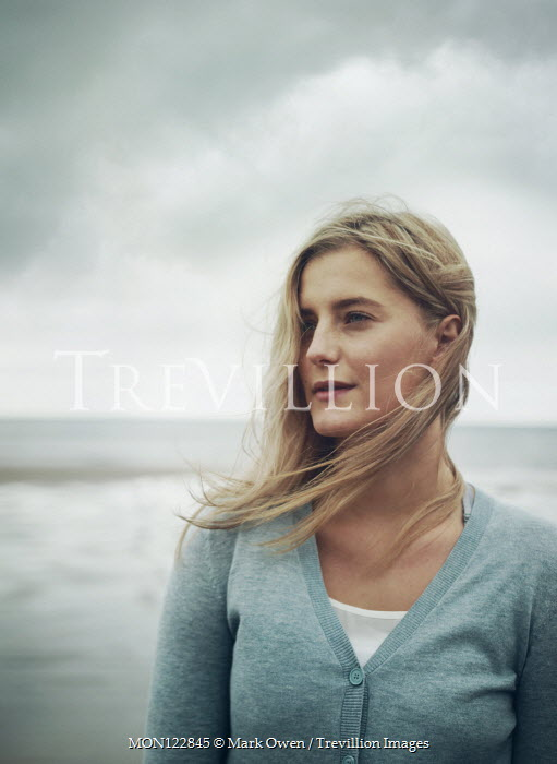 Mark Owen Young woman on beach