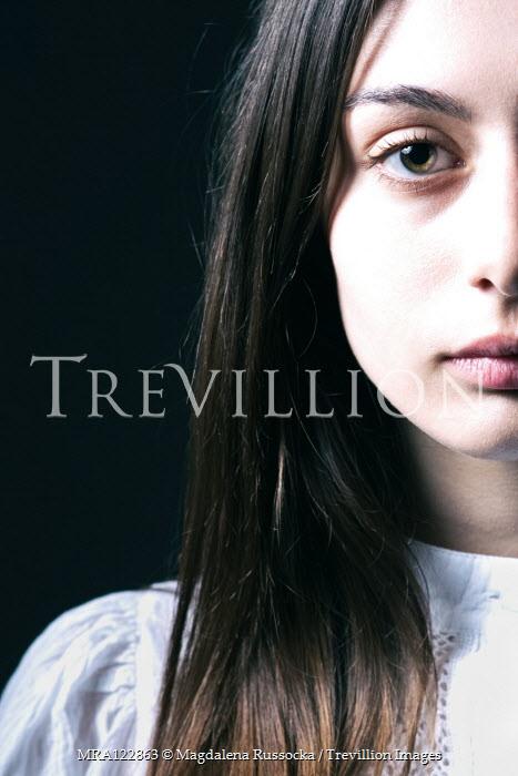 Magdalena Russocka close up of teenage girl staring