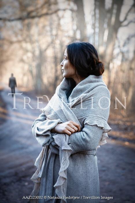 Natasza Fiedotjew Silhouette of man walking away from vintage woman