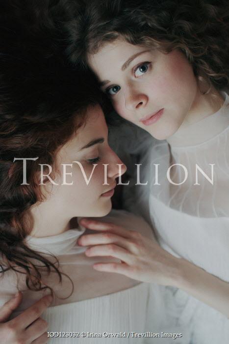 Irina Orwald TWO GIRLS IN WHITE LYING TOGETHER Women