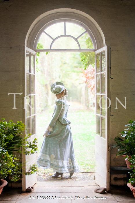 Lee Avison 1890s Victorian woman in the garden