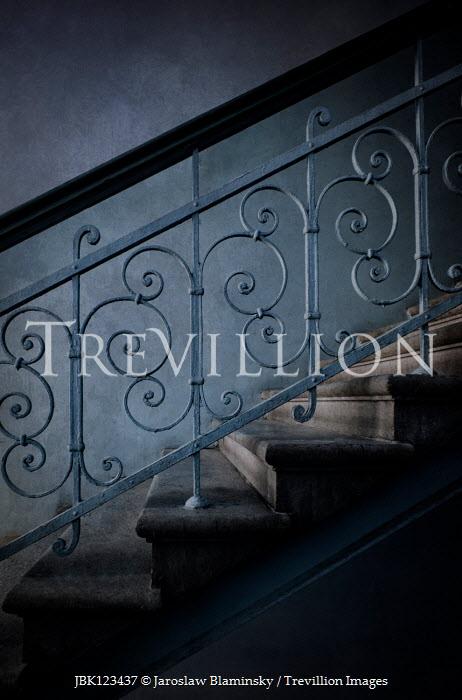 Jaroslaw Blaminsky ORNATE STAIRCASE IN SHADOW Stairs/Steps