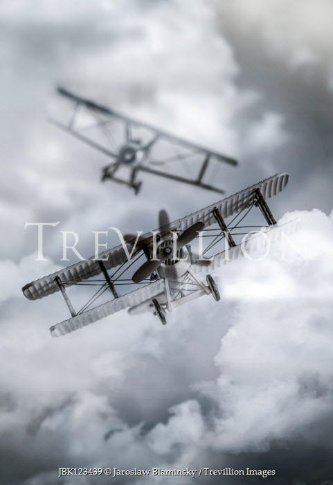Jaroslaw Blaminsky TWO HISTORICAL PLANES FLYING IN CLOUDS Miscellaneous Transport