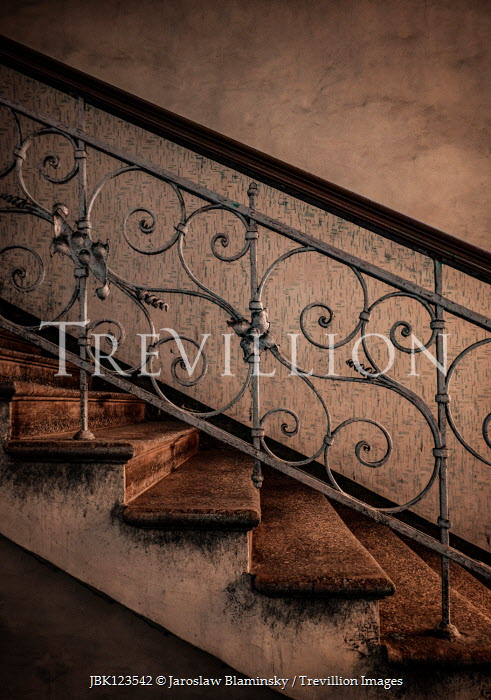 Jaroslaw Blaminsky OLD SHABBY ORNATE STAIRCASE Stairs/Steps