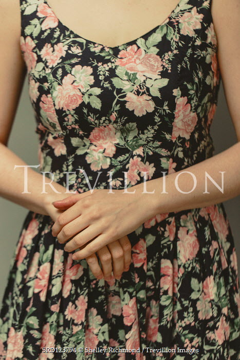Shelley Richmond FEMALE HANDS WITH FLORAL DRESS Women