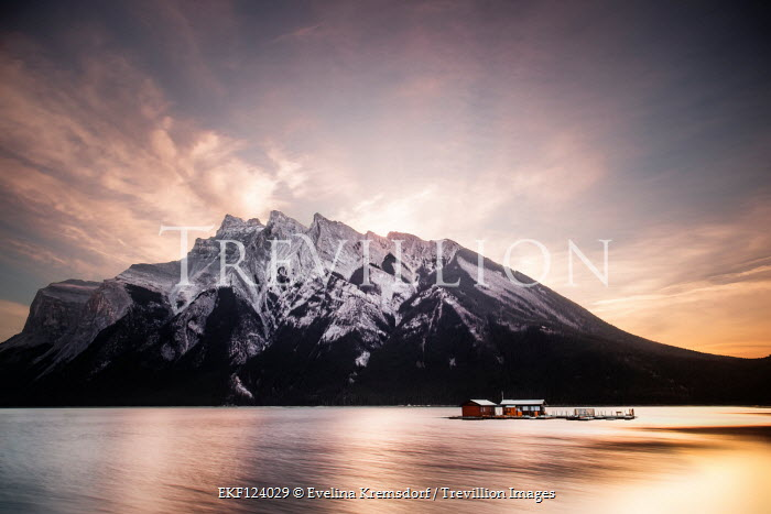 Evelina Kremsdorf Lake Minnewanka at sunset in Banff National Park, Alberta, Canada