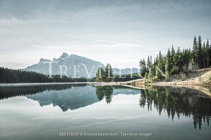 Evelina Kremsdorf Two Jack Lake in Banff National Park, Alberta, Canada