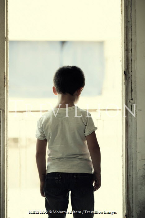 Mohamad Itani LITTLE BOY BY WINDOW WITH BALCONY Children