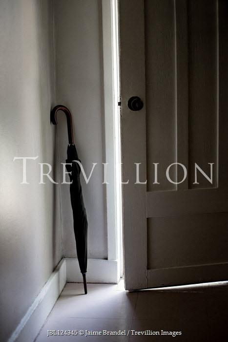 Jaime Brandel UMBRELLA LEANING INDOORS WITH OPEN DOOR Miscellaneous Objects