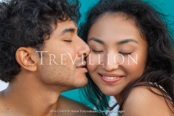 Anna Volynskaia MAN KISSING HAPPY ASIAN WOMAN Couples