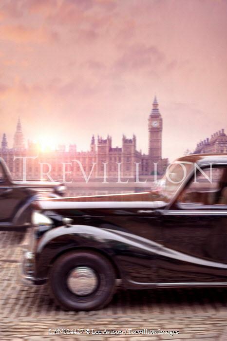 Lee Avison vintage 1940s cars driving in London