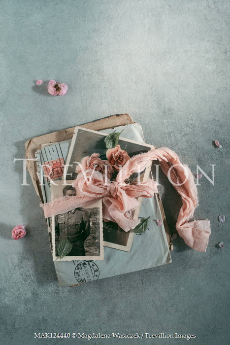 Magdalena Wasiczek OLD PHOTOGRAPHS AND LETTERS TIED WITH FABRIC Miscellaneous Objects
