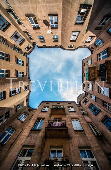 Jaroslaw Blaminsky Sky above apartment building courtyard