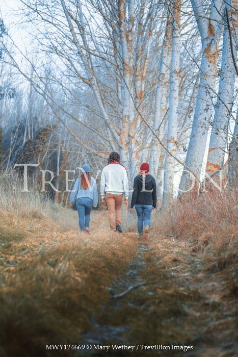 Mary Wethey Family walking in field