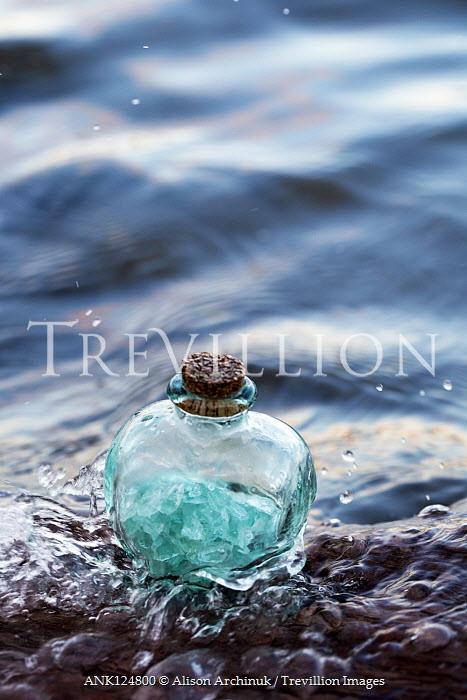 Alison Archinuk Jar of beach glass in wave