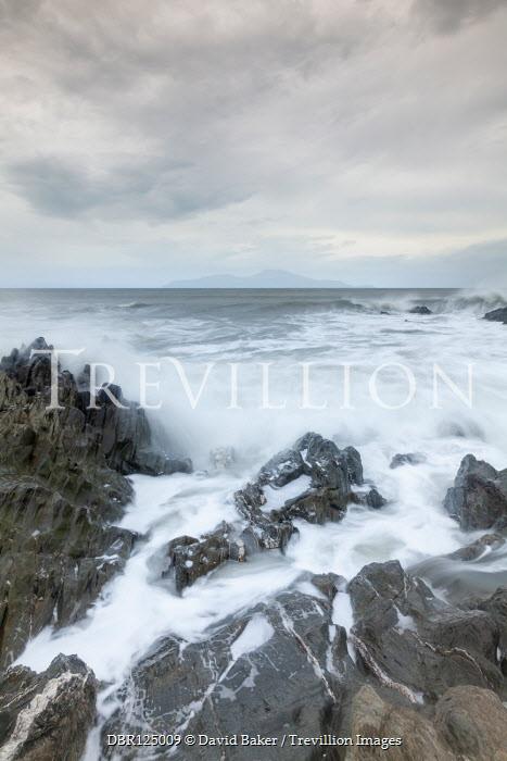 David Baker WAVES CRASHING ON ROCKY SHORE Seascapes/Beaches
