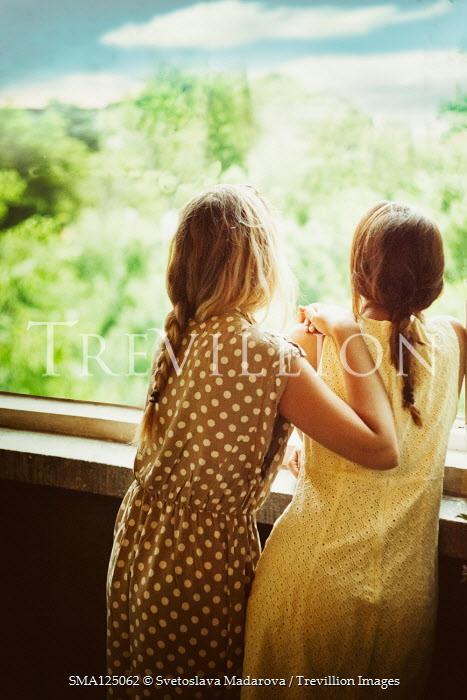 Svetoslava Madarova TWO GIRLS ON BALCONY WATCHING COUNTRYSIDE Women